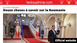 Captura luată de pe site-ul cotidianului francez