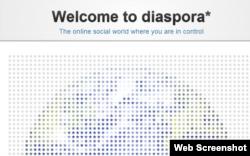 Главная страница соцсети Diaspora.