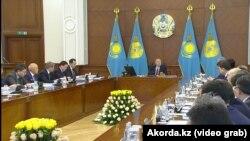 Казак өкмөтүнүн кеңейтилген жыйыны, Астана, 30-январь 2019-жыл.