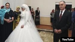 Свадьба 17-летней Луизы (Хейды) Гойлабиевой и начальника Ножай-Юртовского РОВД Нажуда Гучигова