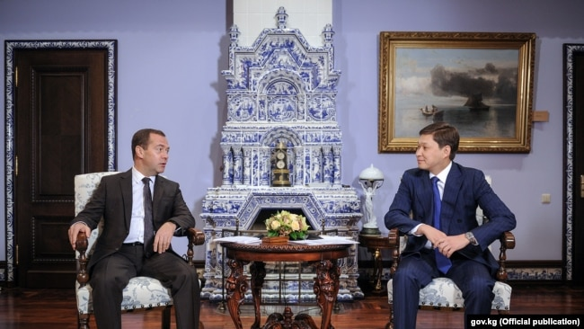 Сапар Исаков и Дмитрий Медведев