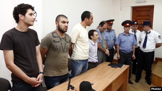 Armeina - Opposition activists are sentenced to between two and six years in prison by a Yerevan court, 20Jul2012.