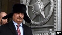 Халифа Хафтар во время очередного визита в Москву. 2016 год