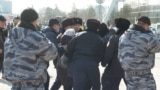 Kazakhstan - Astana arrests in front of the city mayor