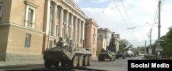 Російська військова техніка на вулицях Керчі, 7 серпня 2016 року