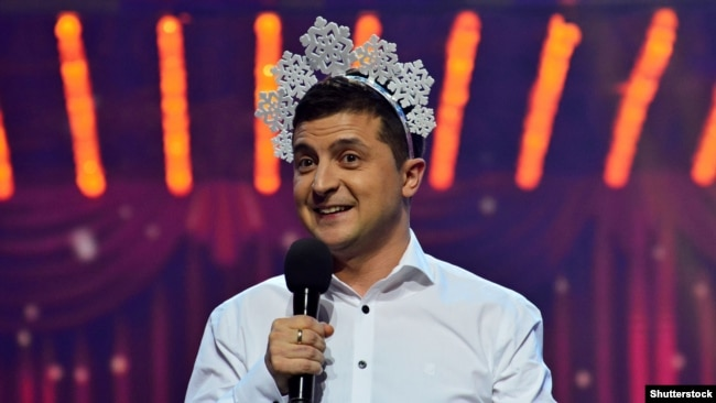 """Владимир Зеленский на съёмках программы """"Киев вечерний"""", 2016 год"""