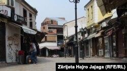 Çarshia e Shkupit në kohën e pandemisë