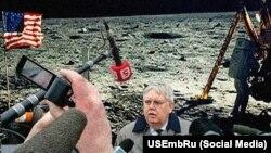 Флешмоб против российской пропаганды: посол Джон Теффт на Луне