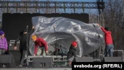 Главная концертная сцена «Праздника Независимости» в Минске, 25 марта 2018 года