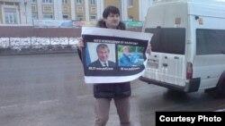 Андрей Осипов на митинге против коррупции