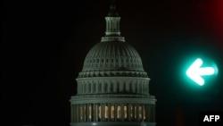 Здание Капитолия, месторасположение американского Конгресса. Капитолийский холм, Вашингтон, США