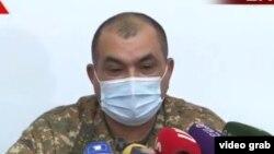 Тиран Хачатрян во время пресс-конференции, 26 ноября 2020 г.