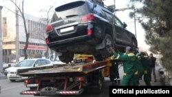 Автоунааны эвакуациялоо учуру. Бишкек.