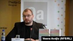 Boban Stojanović na konferenciji za novinare