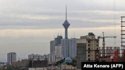 A general view of the Iranian capital Tehran and the Milad tower, November 5, 2018