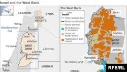 Палестина-Израил чатагынын картасы.