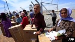 Сириядағы босқындар. 11 мамыр 2014 жыл.
