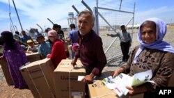 Ирактағы сириялық босқындар. Мамыр 2014 жыл. (Көрнекі сурет).