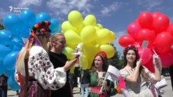 Cămaşa tradiţională ucraineană sărbătorită la Chişinău