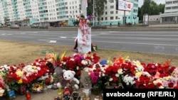 На месцы забойства Аляксандра Тарайкоўскага ў Менску. Архіўнае фота.