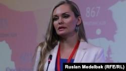 """""""Құқықтық медиа орталық"""" ұйымының директоры Диана Окремова."""