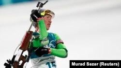 Беларуска Дар'я Домрачава фінішавала 9-й у біятлённым спрынце на 7.5 км. REUTERS/Murad Sezer