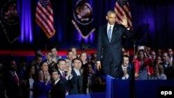 ԱՄՆ - Բարաք Օբաման թողնում է ամբիոնը իր հրաժեշտի ելույթից հետո, Չիկագո, 10-ը հունվարի, 2017թ․