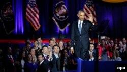 Барак Обама после произнесения прощальной речи, Чикаго, 10 января 2017 года