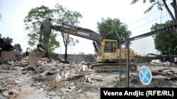 Savamala nakon nezakonitog rušenja objekata u aprilu 2016.
