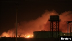 Fire engulfed the Yarmouk ammunition factory in Khartoum on October 24.