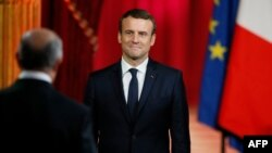 Президент Франції Емманюель Макрон під час інавгурації, 14 травня 2017 року