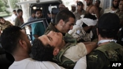 Один из погибших в боях ливийских повстанцев