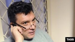 Boris Nemtsov in a Moscow court on January 3