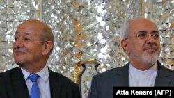 آقای لودریان در اسفندماه ۹۶ سفری به تهران داشت