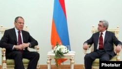 Armenia -- Armenian President Serzh Sarkisian meeting with Russian FM Sergei Lavrov, Yerevan, 08Jul,2011