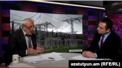 Ազգային ժողովի ՀԱԿ խմբակցության քարտուղար Արամ Մանուկյանը «Ազատություն TV»-ի տաղավարում, 18-ը մայիսի, 2015թ.