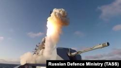 Пуск ракет с фрегата «Адмирал Горшков». Иллюстративное фото.