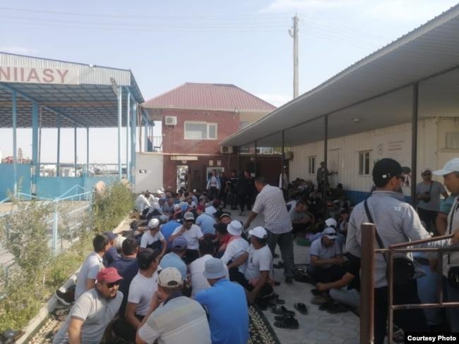 Забастовка рабочих компании «Кезби». Жанаозен, 1 июля 2021 года