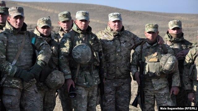 Վրացի զինվորները Ալգետի ռազմակայանում, 12-ը դեկտեմբերի, 2012