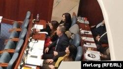 Дел од независната пратеничка група на ВМРО-ДПМНЕ