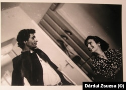 Balogh Attila feleségével, Ebner Orsolyával