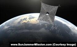 Одна из конструкций солнечного паруса