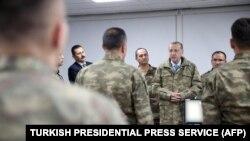 Președintele Recep Tayyip Erdogan în vizită la Baza operativă Hatay