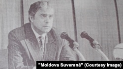 """Andrei Sangheli, fost prim-ministru (1992-1997); imagine: """"Moldova Suverană"""", 13 iulie 1996"""