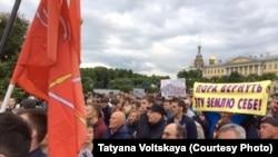Sankt Peterburqda etiraz aksiyası