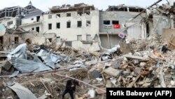 ویرانیهای ناشی از جنگ در ناگورنو قرهباغ