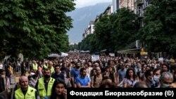 Протестиращи в София
