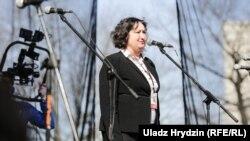 Алена Анісім выступае на «Сьвяце Незалежнасьці» ў Менску 25 сакавіка 2018