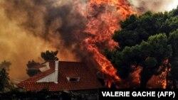 Греция в огне: пожары унесли десятки жизней