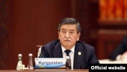 Kyrgyz President Sooronbai Jeenbekov ratified the legislation on May 16. (file photo)